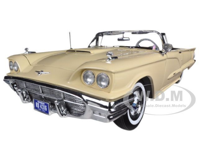 1960 ford thunderbird open convertible tawney beige