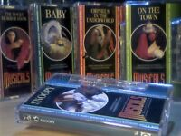 THE MUSICALS COLLECTION # 41-45 BY ORBIS PRERECORDED CASSETTE TAPES