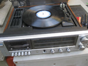 turn table - record player ,amplifier cassette player ,radio