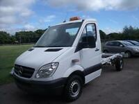 MERCEDES SPRINTER 313 CDI C-C MWB CHASSIS CAB, White, Manual, Diesel, 2013