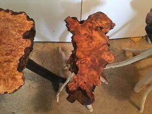 Hand Crafted British Columbia Burl Tables for sale
