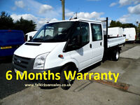 Ford Transit 2.4 TDCi 350 LWB Crewcab Tipper 1-Way 4dr
