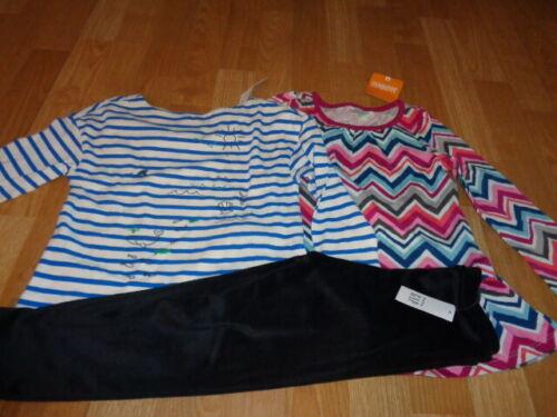 NWT baby Gap gymboree outfit size 4 years stripe tops shirts gap black leggings
