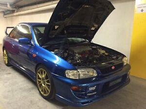 1999 Subaru Impreza MY99 WRX STI Blue 5 Speed Manual Coupe Concord Canada Bay Area Preview