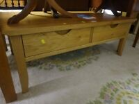 Oak Coffee table with two drawers,can deliver