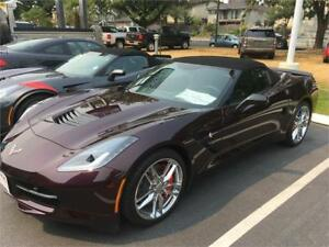 2017 Chevrolet Corvette Z51 3LT Convertible BLACK ROSE color
