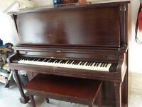FULLY TUNED ,BEAUTIFUL UPRIGHT PIANO,READY TO GO WITH BENCH TOO
