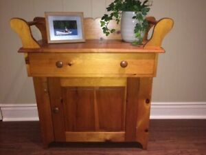 Solid Wood Custom Made Cabinet with Working Drawer & Storage