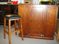 """48"""" HOME BAR-PERFECT FOR CONDOS,COTTAGES AND SMALL SPACES"""