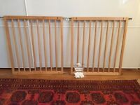 BabyDan wood baby barrier x2