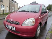 2003 Toyota Yaris 1.0 Collection 3dr Full Service history