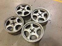 "AEZ 4x100, 16"", 7.5J. Alloy wheels, deep dish Original Made in Germany, not lenso, aez"