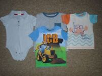 Bundle of 4 t-shirts for boys 12-18 months-post it
