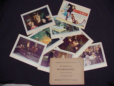 FRANKENSTEIN 1931 * BORIS KARLOFF * MINT LOBBY CARD SET * UNIVERSAL HORROR!!