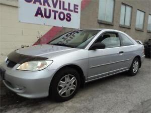 2005 Honda Civic Cpe DX COUPE 2DR AUTOMATIC SAFETY WARRANTY INCL