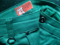 green zara jeans size 44 trousers