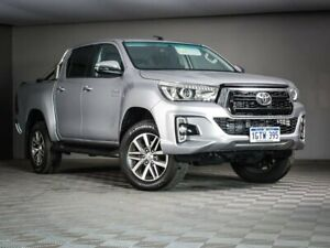 2019 Toyota Hilux GUN126R SR5 Double Cab Silver 6 Speed Sports Automatic Utility Maddington Gosnells Area Preview