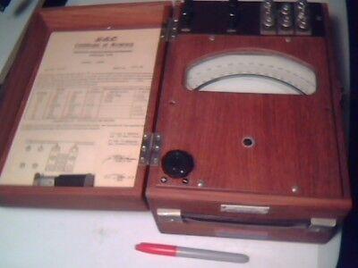 Gec General Electric Portable Dynamometer Wattmeter Vintage Test Equipment