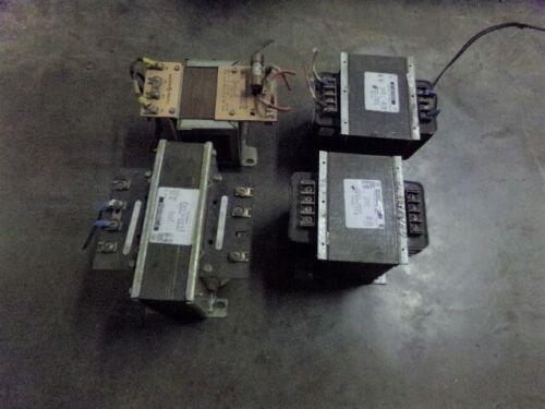 Lot of (4) GE Control Transformers / (2) 1 KVA / (1) 1.5 KVA / (1) .50 KVA