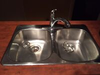 One Kitchen and one Bathroom counter top each with sink & faucet