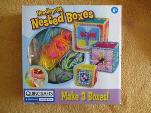 BNIB Needlepoint Nested Boxes for ages 6+ Brand New in