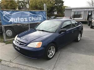 HONDA CIVIC LX COUPE 2003 **A/C**ANTIROUILLE 9 ANS**