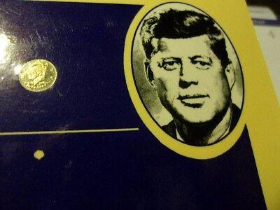 John F. Kennedy Miniature Solid 14 K Gold Half Dollar (FREE SHIPPING}