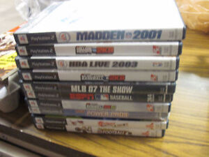 10 ps2 various sports games first $10 bucks takes them look!