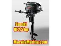 Suzuki 2.5 hp Four Stroke Outboard - July Only $799!