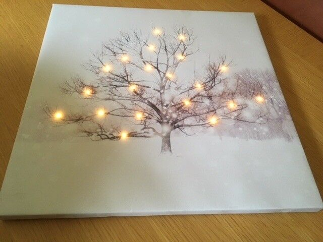 Lovely Next Picture Canvas with LED lights - tree