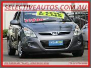 2011 Hyundai i20 PB MY11 Active Grey 5 Speed Manual Hatchback Homebush Strathfield Area Preview