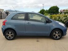 2008 Toyota Yaris NCP90R YR Blue 5 Speed Manual Hatchback Garbutt Townsville City Preview
