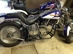 HARLEY ROLLING CHASSIS SOFTAIL PROJECT