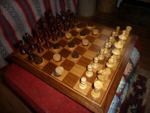 Vintage Wood Checkers/Chess Set - Delivery