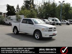 2012 DODGE RAM 1500 SPORT CREW CAB SHORT BOX 4X4 LEATHER *HEMI*