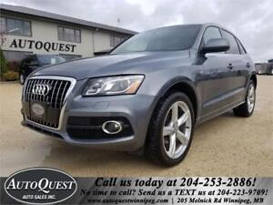 2012 Audi Q5 3.2L Premium AWD, Pano Sunroof, Htd Leather Seats!