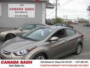2014 ElantraAUTO,AC,ONLY 73 KM,MINT,MINT,12 M WRTY,SAFETY,$9990