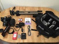 Canon EOS 450D Digital Camera with lenses and Accessories