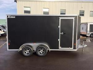 NEW 2017 XPRESS 7' x 14' ENCLOSED TRAILER w/ STOW-ABLE RAMPS