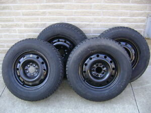 225 70R 16 Snow tires with rims