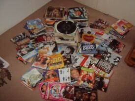 Job Lot 45rpm Vinyl Records & 200+ Promo DVDs & CDs All UNTESTED