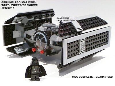 LEGO STAR WARS DARTH VADER'S TIE FIGHTER SET# 8017 100% COMPLETE GUARANTEE