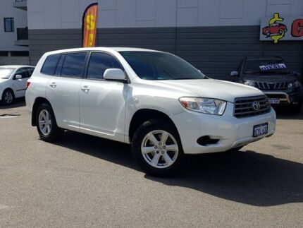 2008 Toyota Kluger GSU40R KX-R (FWD) 7 Seat White 5 Speed Automatic Wagon East Victoria Park Victoria Park Area Preview