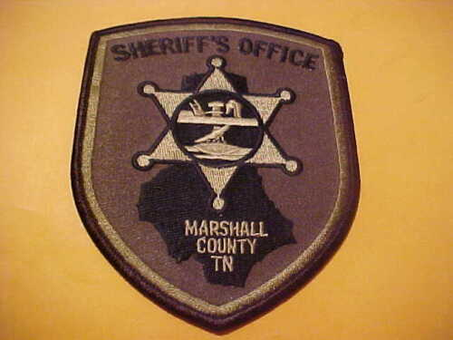 MARSHALL COUNTY TENNESSEE POLICE PATCH SHOULDER SIZE UNUSED OD GREEN