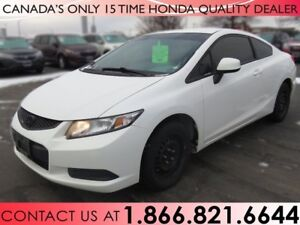 2013 Honda Civic Cpe LX | 1 OWNER | NO ACCIDENTS | LOW PRICE