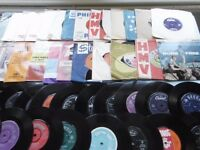 Large Selection 1950/60/70s Vynil single records