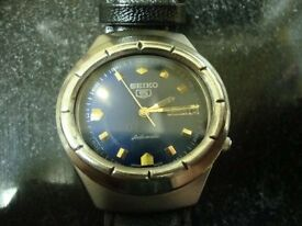 VINTAGE MENS SEIKO AUTOMATIC WATCH (BLUE)