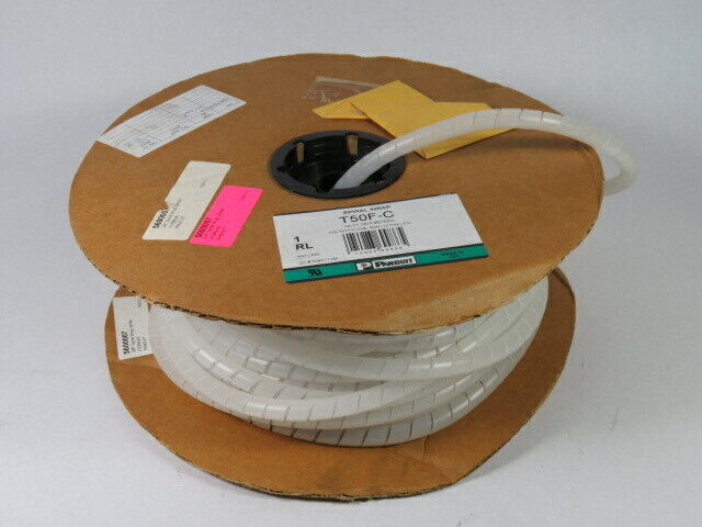 "Panduit T50F-C Spiral Wrap 0.5"" Polyethylene 80ft/Roll  USED"