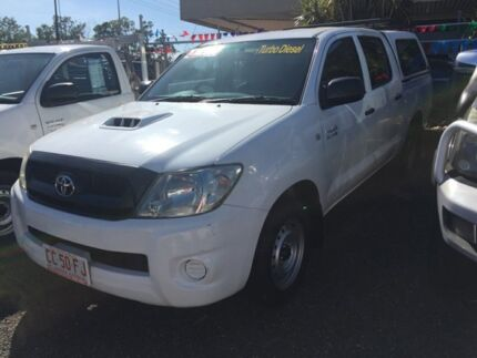 2010 Toyota Hilux 2X4 SR White 5 Speed Manual Dual Cab