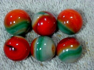 """6  HTF 5//8/""""  HAND SELECTED JABO CLASSIC  MARBLES  $4.99   LOT K"""